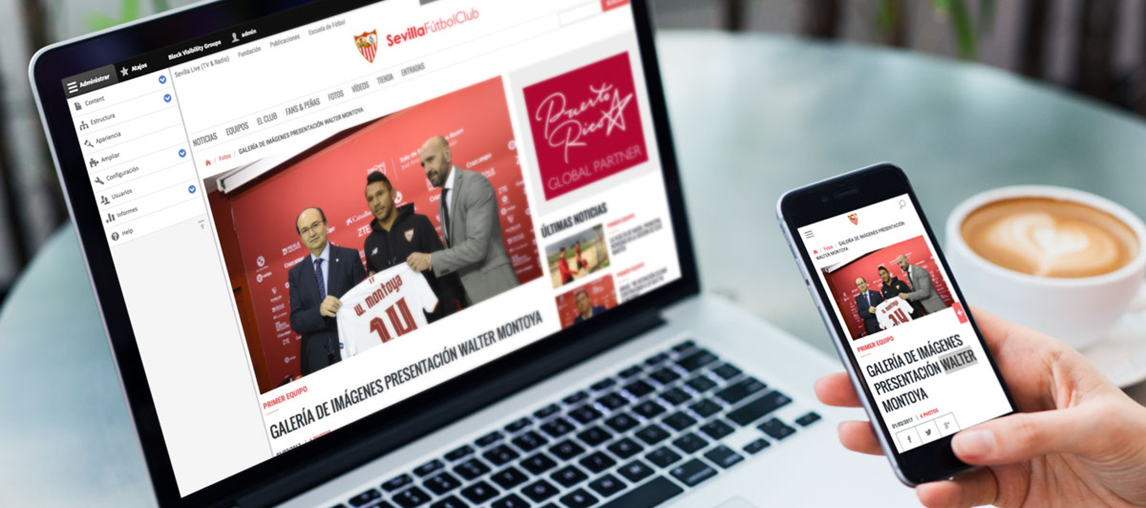 New international case study in Drupal 8: Sevilla FC