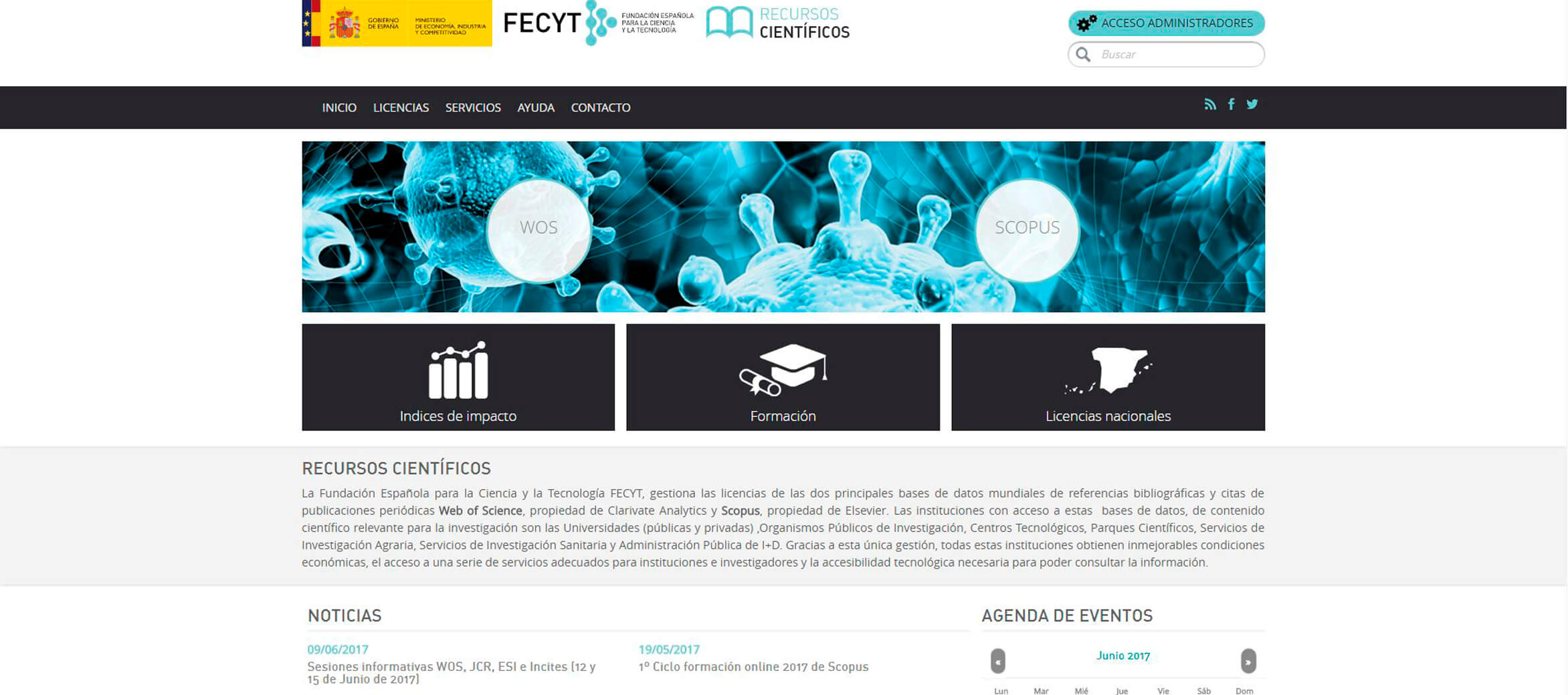 Emergya al frente de la nueva web para la Web of Science de Fecyt